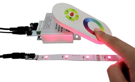 wireless under cabinet rope lighting rgb color changing controller with wireless remote