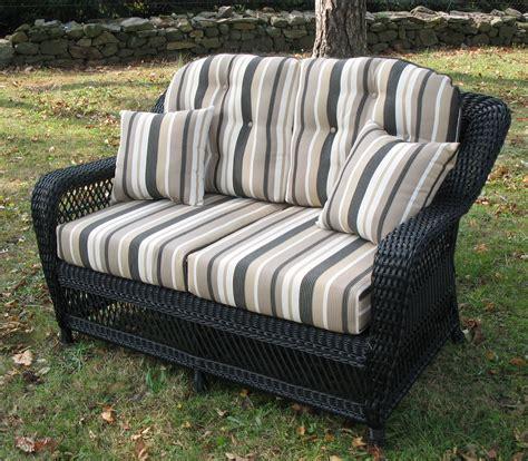 wicker settee set loveseat cushion set wicker style