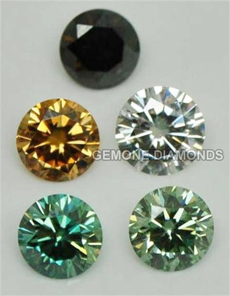 moissanite colors colored moissanite gemstones synthetic color moissanite