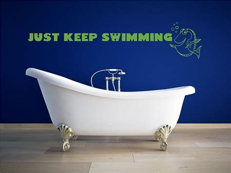 just home decor just keep swimming wall decal disney home decor
