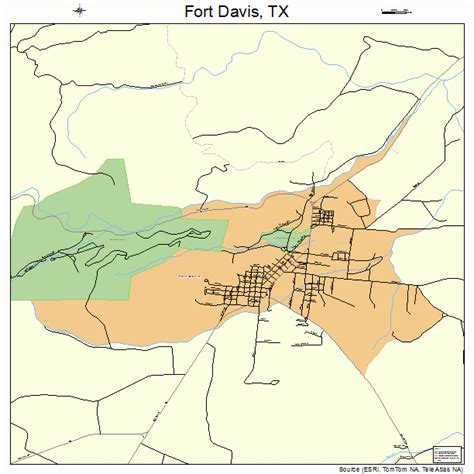 fort texas on map fort davis texas map 4826688