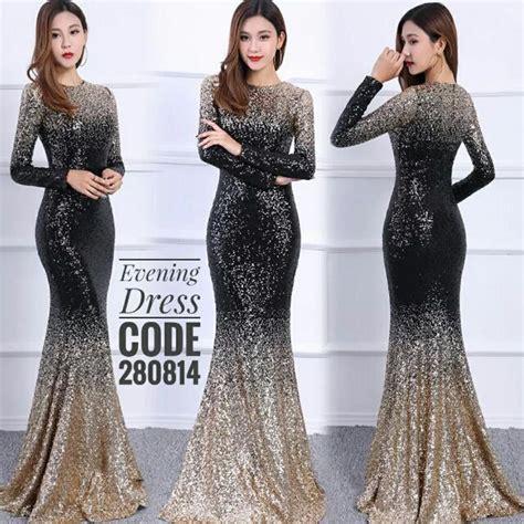 Dress Black Murah sewa baju dress glitter murah fesyen wanita pakaian