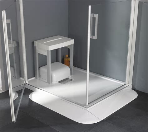 Saniflo Shower Base by Saniflo Introduces Traymatic A Low Level Shower Tray Fitted With Integral Waste Water