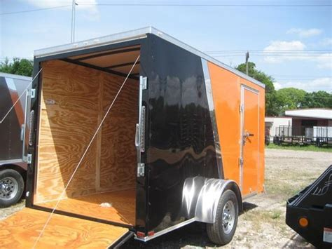 current inventory utility single axle used 6x12 utility trailer wgate 6x12 single axle enclosed cargo trailer load runner