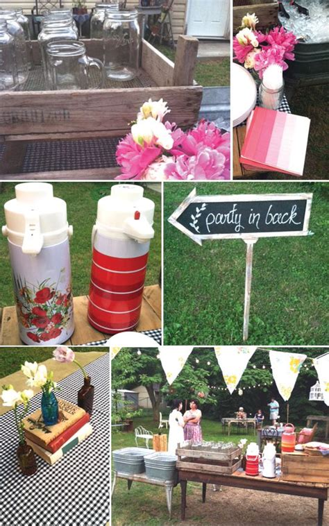 vintage backyard party vintage backyard bbq bash with schoolhouse vibe styled by