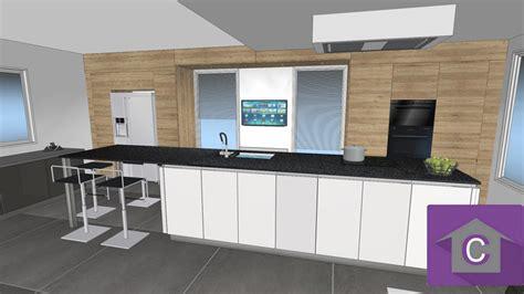 Exceptionnel Evier En Coin Pour Cuisine #5: 3D-cuisine-ilot.jpg