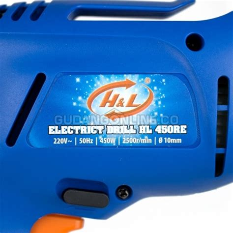 Mesin Bor H L H L Mesin Bor Tangan Listrik Electric Drill 10mm Hl 450 Re Gudangonline Tools