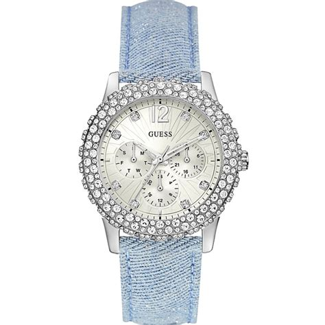 Set Guess Blue guess set baby blue dazzler watches
