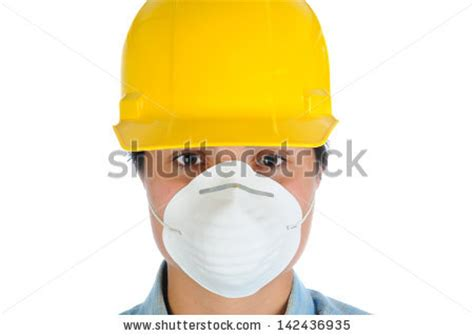 html format mask closeup of a female construction worker wearing a yellow