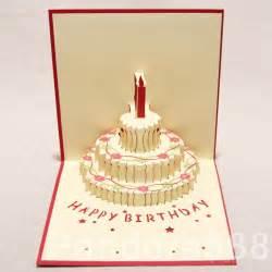 3d greeting card handmade 3d pop up three tiered cake greeting card happy birthday