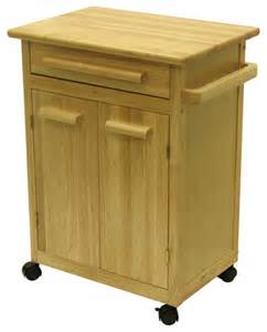 Wood Kitchen Island Cart Winsome Wood Kitchen Cart W One Drawer Cabinet In Contemporary Kitchen Islands