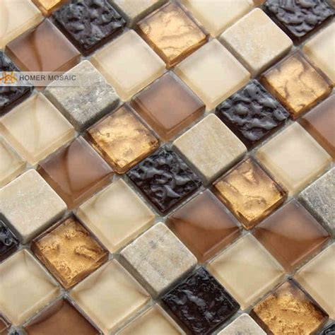 Chocolate Brown Bathroom Ideas brown color zone glass mixed stone tiles bathroom wall