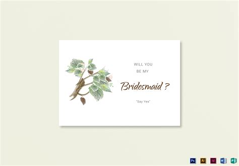 Fall Wedding Will You Be My Bridesmaid Card Template In Psd Word Publisher Illustrator Indesign Will You Be My Best Template