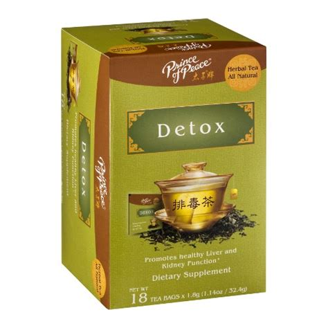 Prince Of Tea Detox by Detox Tea 18 Bag 3 25ea From Prince Of Peace