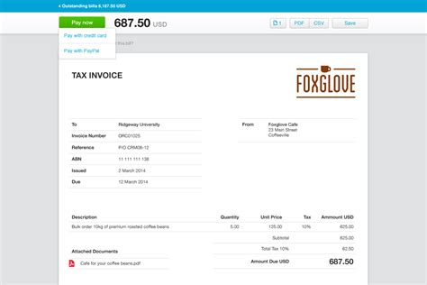 templates for xero xero invoice template invoice exle