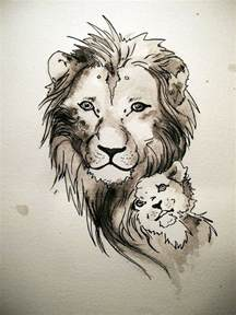19 best images about tattoo designs tribal lion and cub on