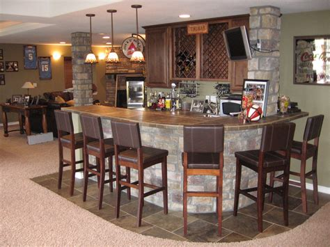 basement kitchen bar ideas awesome bar in basement design ideas with modular curved