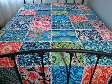 Patchwork King Size Quilt - king size quilt rag patchwork bed quilt modern fabrics