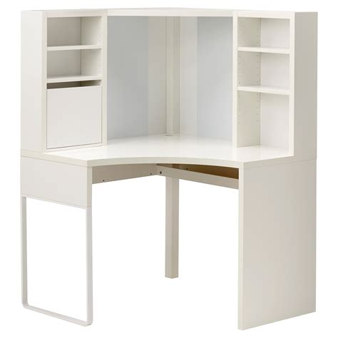 ikea desk micke corner workstation white 100x142 cm ikea