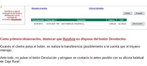 caja rural banca electronica caja rural alerta de un virus troyano que afecta a su