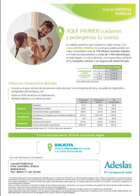 adeslas basico cuadro medico oferta seguro salud adeslas