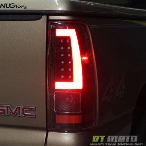 2002 chevy silverado tail lights black 1999 2002 chevy silverado 1500 99 06 gmc sierra led