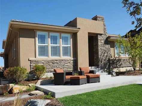 stuck modern exterior trim ideas for beige stucco home design plans
