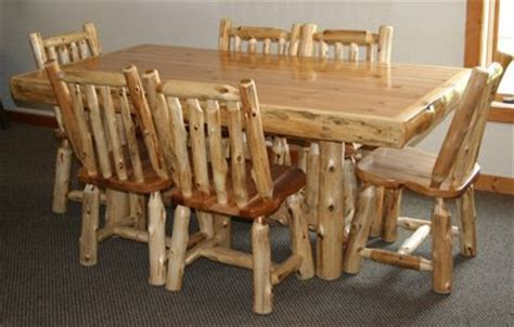 log kitchen table and chairs log furniture barnwood furniture rustic furniture