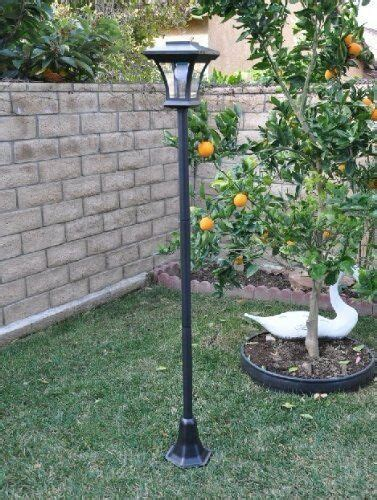 Solar Garden L Post Lights by New 67 Quot Solar Powered L Post Light With Bright Led Bulb