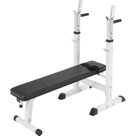Banc De Musculation Avec Poids by Banc De Musculation Avec Support De Barres 10000118 Blanc