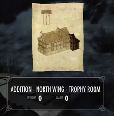 Hearthfire Trophy Room by Skyrim Addition Wing Trophy Room Orcz The