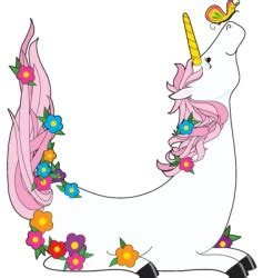 animal alphabet u unicorn stock vector image 7600203 unicorn butterfly royalty free vector image vectorstock