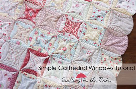 How To Make Cathedral Window Patchwork - simple cathedral windows tutorial quilting in the