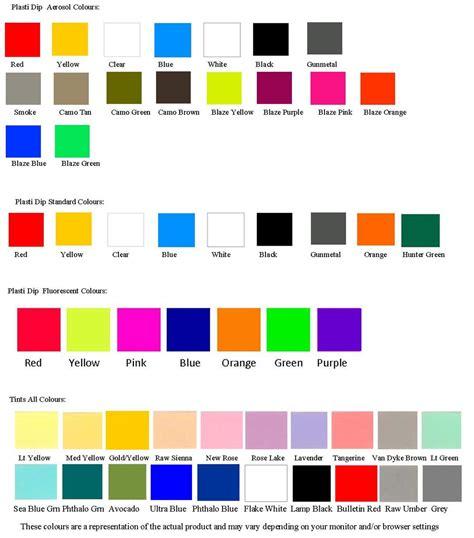 fluorescent l color chart category details plasti dip fluorescent 3 78l