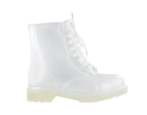 clear boots rosette clear combat boots w