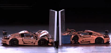 Porsche 911 Crash Test by Watch A Lego Porsche Crash Test Try Not To Cringe Bestride