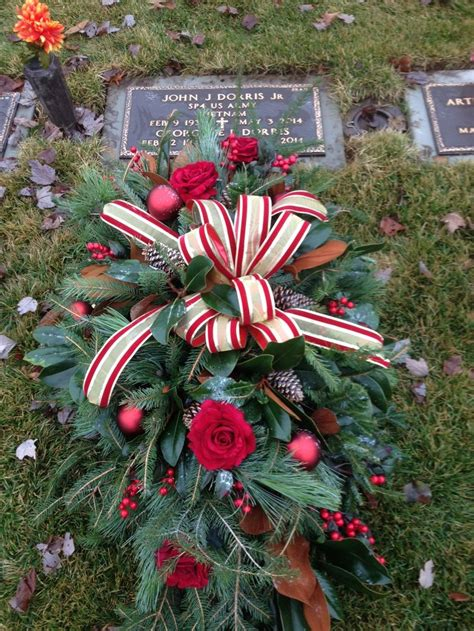 grave side christmas tree 17 best images about funeral arrangements on delphiniums sympathy flowers and white