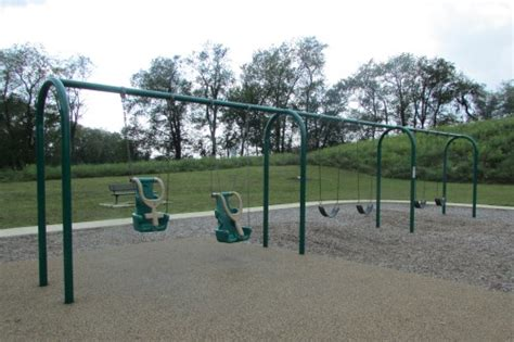 swing at the park schneider community park in plain township