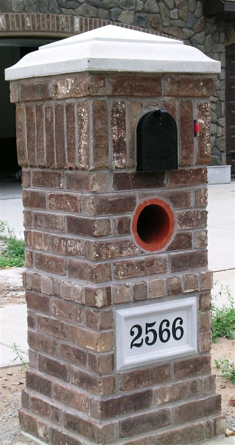 mailbox attached to house brick around your mailbox as a nice accent for your home exterior diy when i have time