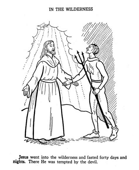 coloring page jesus in the wilderness 17 best images about pictures to color on pinterest