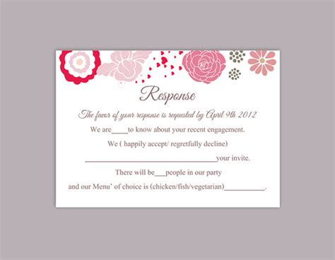 rsvp cards templates sheet printable multiples diy wedding rsvp template editable word file instant