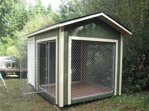 dog house with attached kennel 8x12 k9 kennel with 4x8 dog house and 8x8 kennel built to