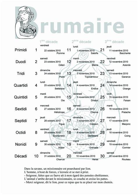 Brumaire Calendrier Calendrier R 233 Publicain Le Portail Des F 233 D 233 Rations De La