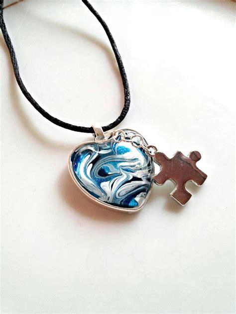 autism necklace autism awareness jewelry autism pendant