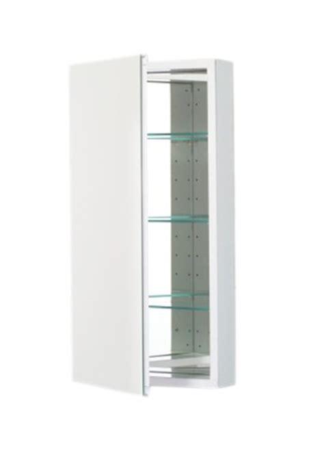 Robern Plm1630w robern plm1630w pl series flat plain mirrored door 15 1 4 inch w by 30 inch h by 3 3 4 inch d