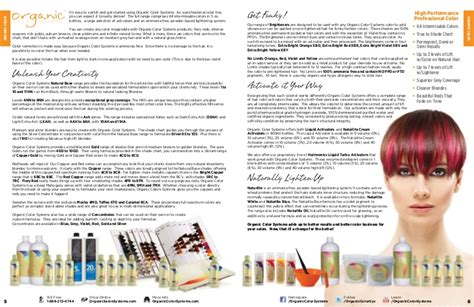 organic color systems organic hair color product brochure
