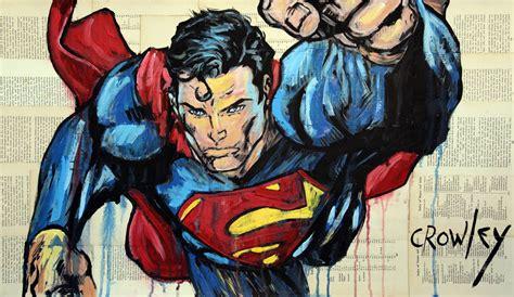 painting superman saatchi superman painting by darren crowley