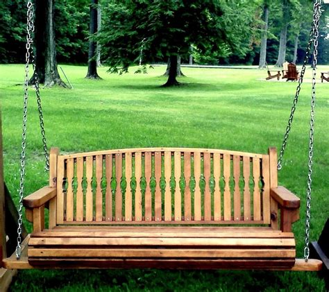 swinging patio bench garden bench swing redwood swings forever redwood