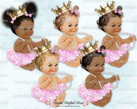 ballerina baby candy pink tutu gold crown pearl necklace