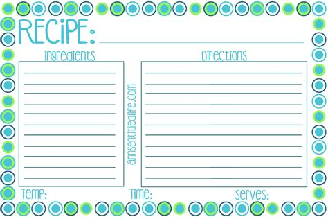 meal cards templates free printable recipe card meal planner and kitchen labels